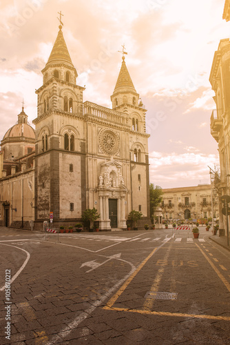 Photo a church in the city of Acireale in Sicily