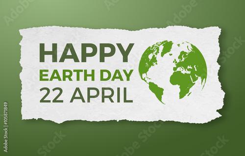 Dzień Ziemi, 22 kwietnia, graficzny ilustracja plakat