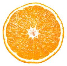 Isolated Half Orange