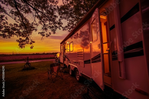Poster Camping Travel Trailer Camping Spot