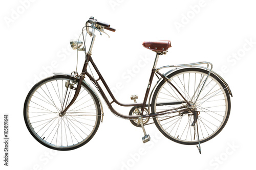 Photo Stands Bicycle Retro styled bicycle isolated on a white background