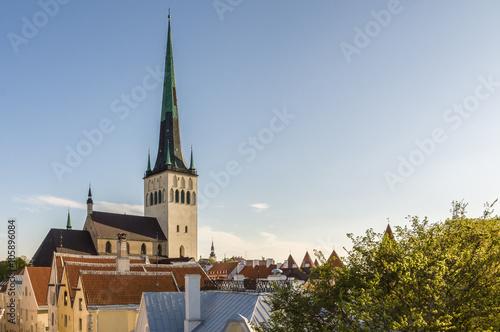 Photo  St. Olav church and tower, Tallinn
