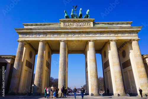Photo  Brandenburg gate of Berlin, Germany