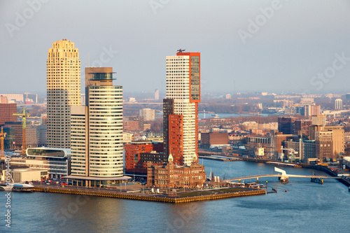 Foto op Canvas Rotterdam Rotterdam skyline. The Netherlands