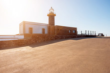 Jandia Lighthouse On The South Cape Of Fuerteventura Island In Spain