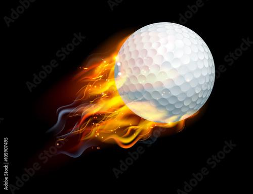 Golf Ball on Fire Canvas Print