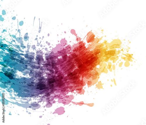 Projekt transparentu rozbryzgi kolorów artystycznych