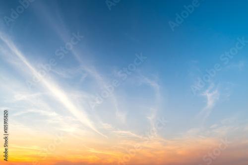 Dramatic sunset and sunrise sky.