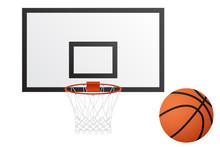 Basketball Hoop And Basketball...
