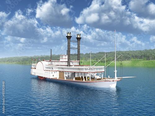 Valokuvatapetti Steamboat of the Mississippi