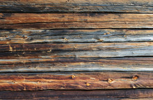 Old Brown Log Wall Background
