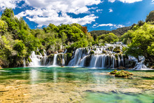 Waterfall In Krka National Par...