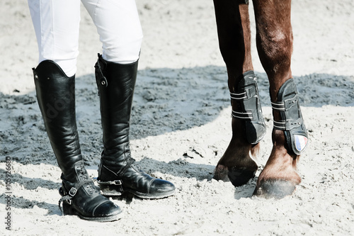 équitation jambes pied pattes cheval cavalier botte