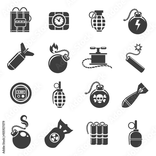 Photo  Bomb and explosives icons