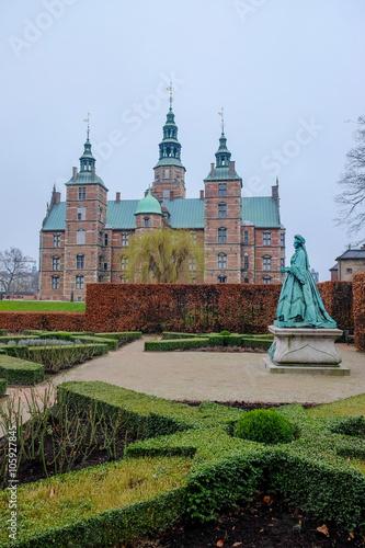 the most popular historical place in Copenhagen, Denmark. Poster