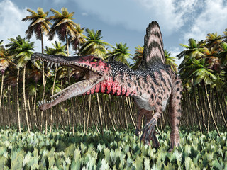 FototapetaDinosaur Spinosaurus in the jungle