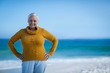 Senior woman posing with hands on hips
