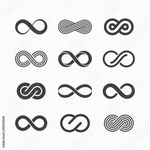 Stampa su Tela  Infinity symbol icons