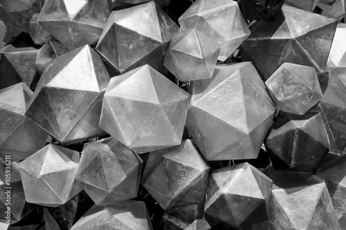 Black and White Triangular background texture.