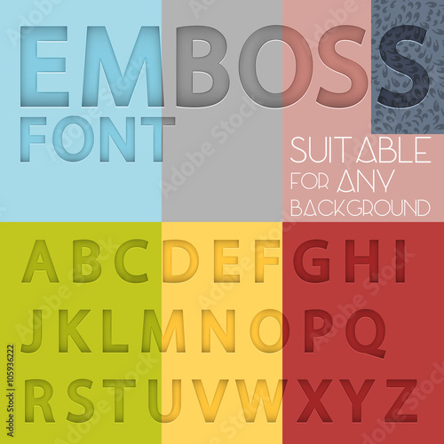 Fotografering  Alphabet with emboss effect suitable for any background