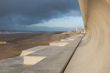Cleveleys, North West England, 07/03/2014, Blackpool And Cleveleys Seafront Flood Defence Wall System
