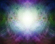 canvas print picture Beautiful Pranic Spiritual Energy Formation Background - soft misty  light in the centre with darkness around depicting spiritual healing light ideal for a dramatic background