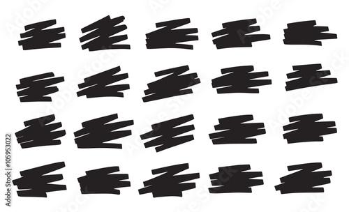 Fényképezés  Gribouillis Noir Surligneur - Black Scribbles Marker pen