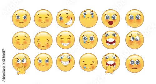 Photo  Set of Emoticons