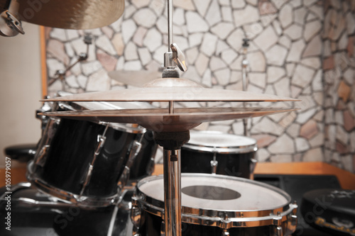 obraz dibond Drums detail in studio