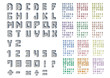 Collection pixel font ; Vector Illustration