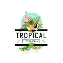 Tropical Design Elements. Vari...