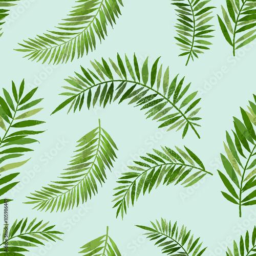 Tapeta ścienna na wymiar Vintage Seamless Palm Leaf Pattern