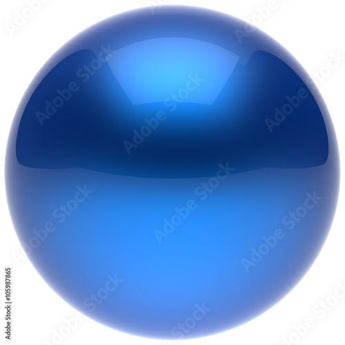 Fotografía  Sphere ball button circle round basic solid bubble figure geometric shape minimalistic simple atom element single blue cyan shiny glossy sparkling object blank balloon icon