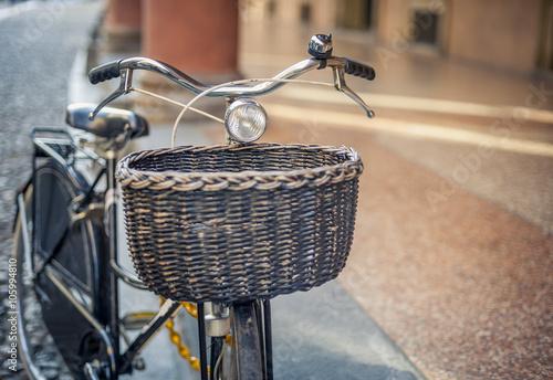 Aluminium Prints Bicycle Bike in the city