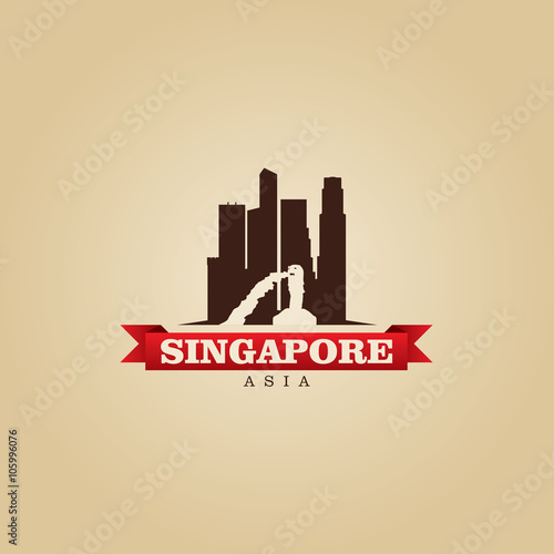 Photo  Singapore Asia city symbol vector illustration