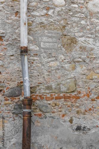 Valokuva  Old drainpipe