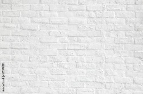 Foto op Aluminium Baksteen muur 白いレンガの背景 White brick background