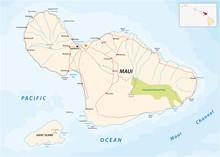 Maui And Kahoolawe Road Map