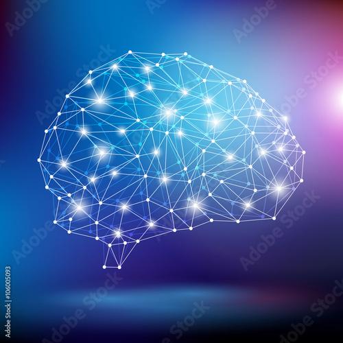 Fototapeta mózg wektor obraz