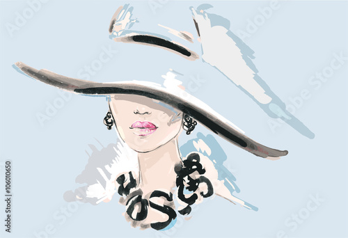 Beautiful woman. fashion illustration