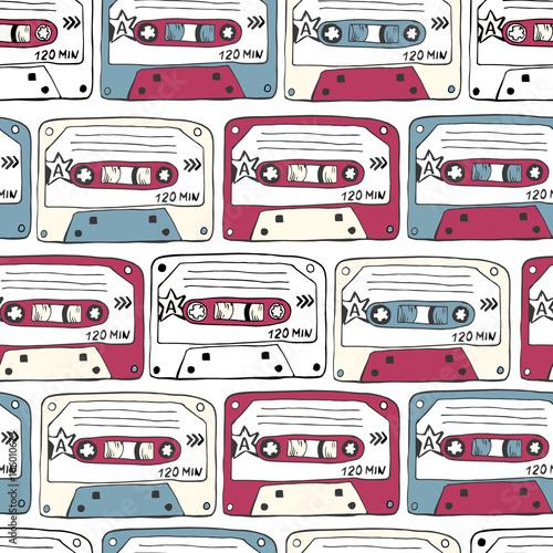 symbole-muzyczne-jednolity-wzor-kaset-ratro-muzyka-rockowa-b