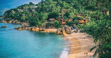 Panoramic View Of Tropical Bea...