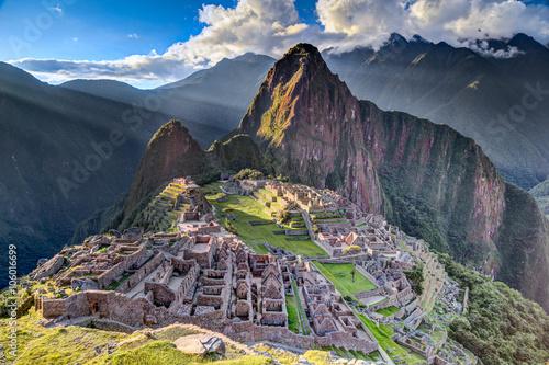 Keuken foto achterwand Oude gebouw Panorama view of Machu Picchu sacred lost city of Incas in Peru
