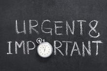 Urgent And Important