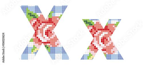 Litera X Mozaika Buy This Stock Vector And Explore Similar