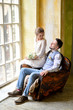 couple on the armchair