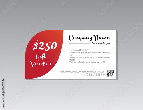 Fotografia  Gift Voucher Shopping 250 dollar