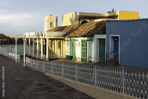 Photo cuba; caribbean, empty street in Trinidad