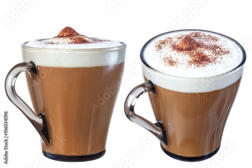 Fotografie, Obraz  Coffee cappuccino chocolate chip , isolate on a white background