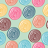 Seamless vector retro colored circle background - 106036621